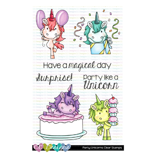 C.C. Designs - Party Unicorns Clear Stamps and Dies