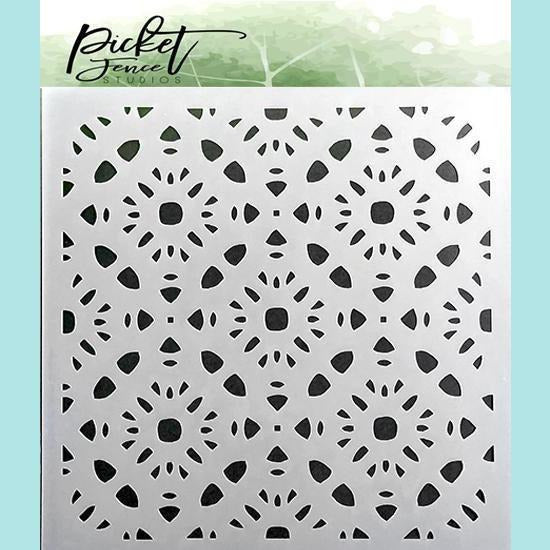 Picket Fence Studios - Pattern of Flowers Stencil
