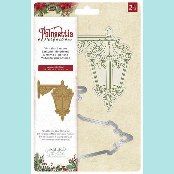 Crafter's Companion - Poinsettia Perfection - Stamps and Dies - Victorian Lantern