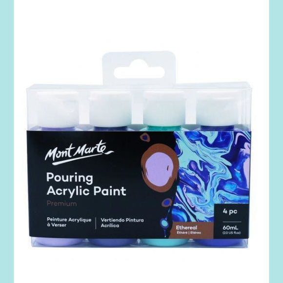 Mont Marte - Pouring Acrylic 60ml 4pc - Ethereal