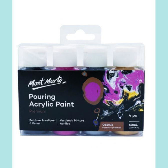 Mont Marte - Pouring Acrylic 60ml 4pc - Cosmic