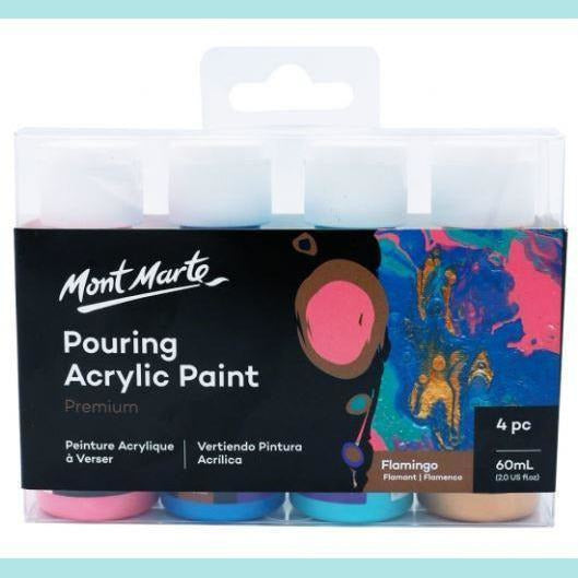 Mont Marte - Pouring Acrylic 60ml 4pc - Flamingo