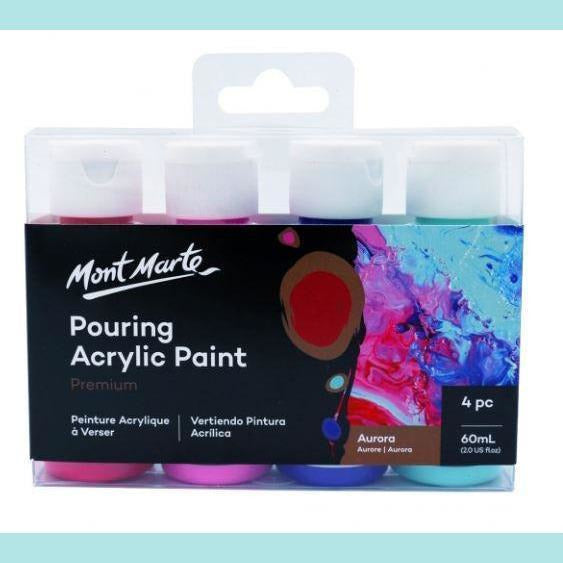 Mont Marte - Pouring Acrylic 60ml 4pc - Aurora