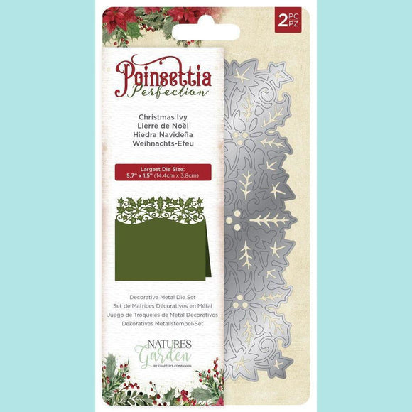 Crafter's Companion - Poinsettia Perfection - Metal Dies - Christmas Ivy