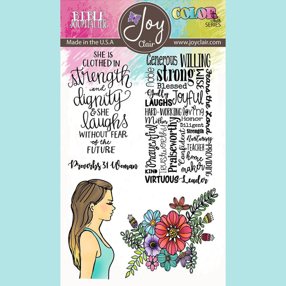 Joy Clair - Proverbs 31 | Bible Journaling Stamp Set