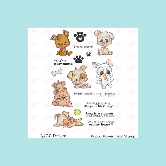 C.C. Designs Puppy Power Clear Stamp