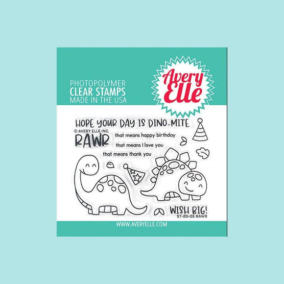 Avery Elle - Rawr Clear Stamps and Die