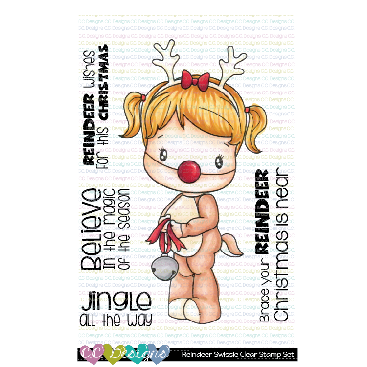 C.C. Designs - Reindeer Swissie Clear Stamp Set
