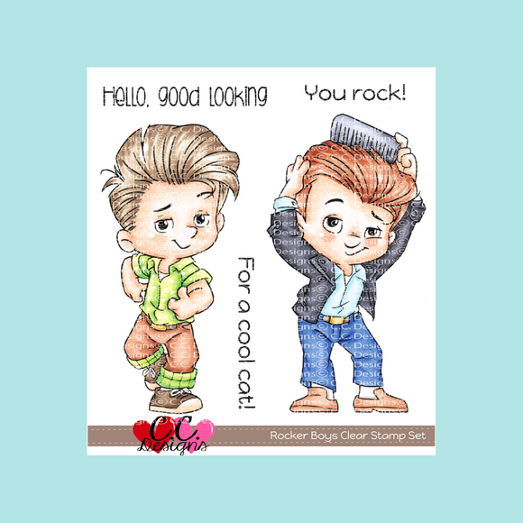 C.C. Designs - Rocker Boys Clear Stamp Set