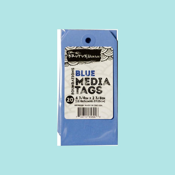 Brutus Monroe  Blue Media Tags - CardStock