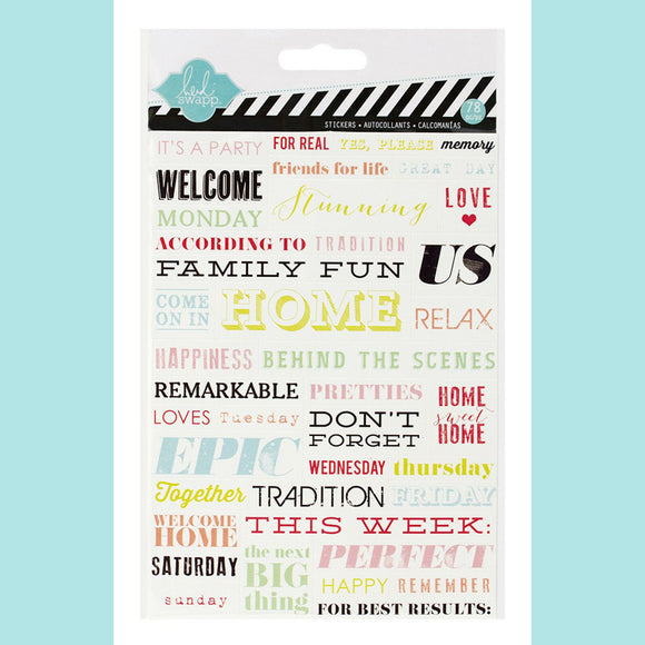 American Craft - Heidi Swapp - Word Strips - Accents