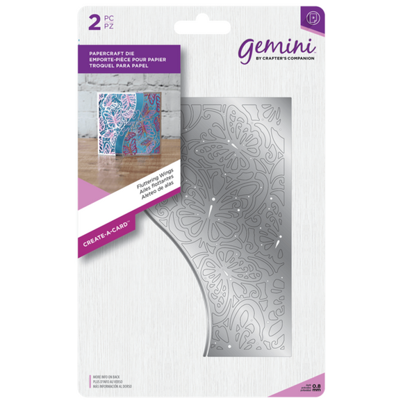 Crafter's Companion Gemini Create-a-Card Corner Tessellating Dies - Fluttering Wings