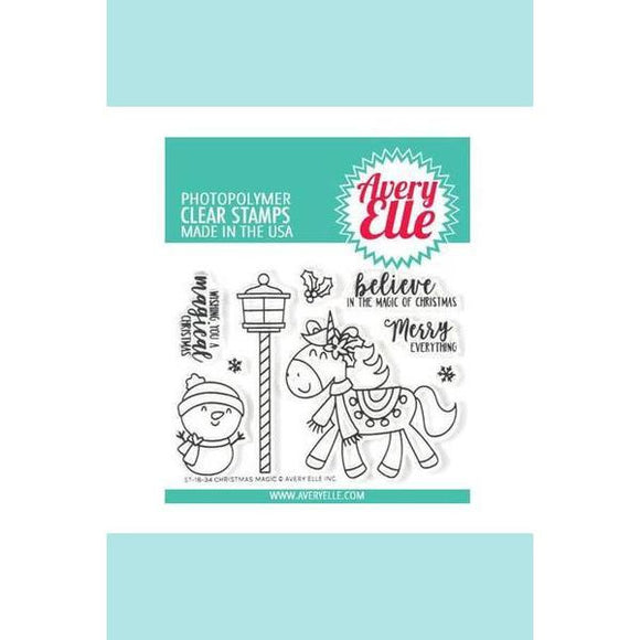 Avery Elle Christmas Magic Clear Stamps
