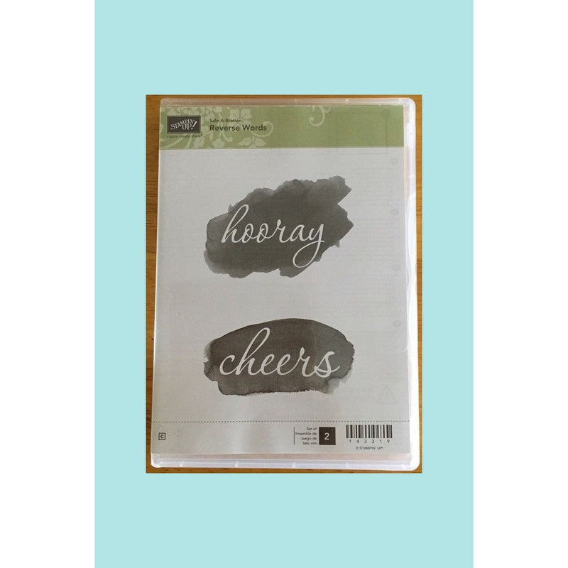 Stampin Up REVERSE WORDS Clear Rubber Stamp Set