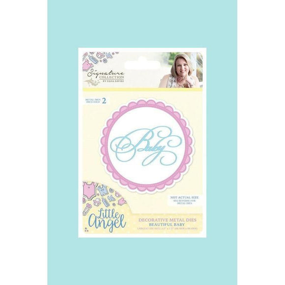 Crafters Companion - Sara Signature Little Angel - Metal Dies - Beautiful Baby