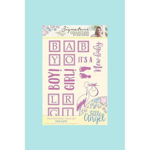 Crafters Companion Sara Signature Little Angel - Clear Stamps - New Baby