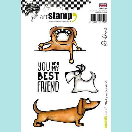Carabelle Studio - Cling Stamp A6: My Dog, My Best Friend