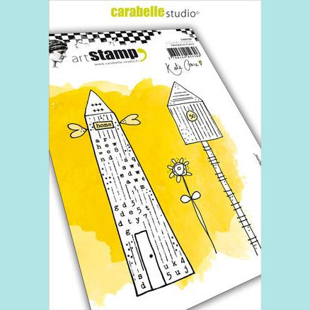 Cling Stamp A6 : Home Sweet Home by Kate Crane