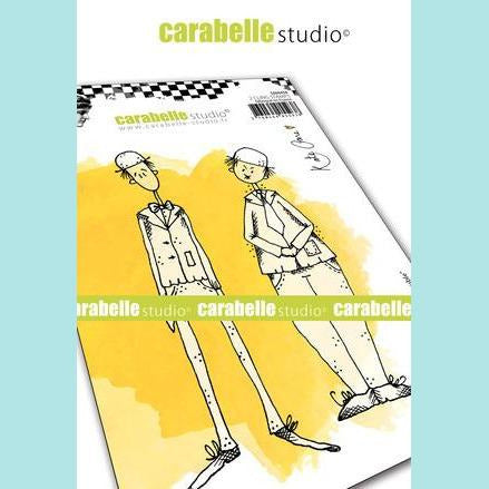 Carabelle Studio - Cling Stamp A6: Double Trouble by Kate Crane