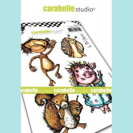 Carabelle Studio - Cling Stamp A6: Drôles d'animaux by la Rafistolerie