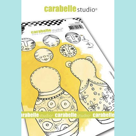 Cling Stamp A6 : Build a Baboushka by Kate Crane