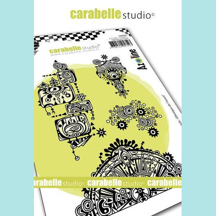 Carabelle Studio - Cling Stamp A6 : Azo' freestyle : Western Ethnic by Azoline