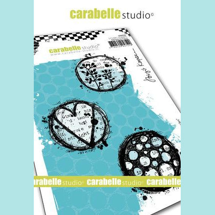 Carabelle Studio - Cling Stamp A6 : Playful circles by Birgit Koopsen