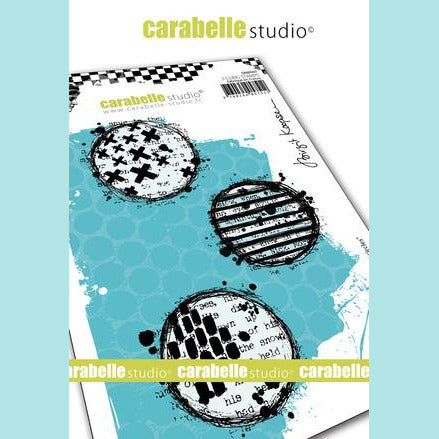 Carabelle Studio - Cling Stamp A6 : Textured circles by Birgit Koopsen