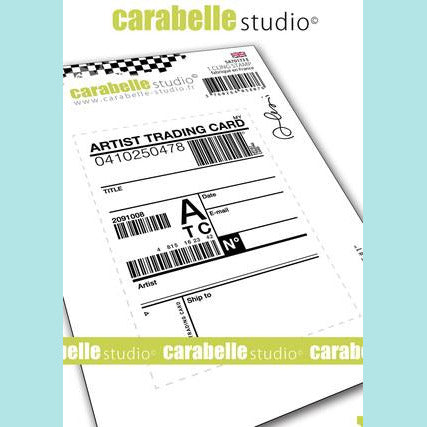 Carabelle Studio - Cling Stamp A7: ATC #1 by Alexi