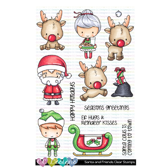 C.C. Designs - Santa and Friends Stamp