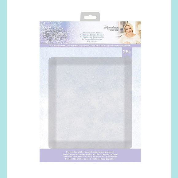 Crafter's Companion - Sara Signature - Glittering Snowflakes Construction Acetate Pack A4 25/Pkg