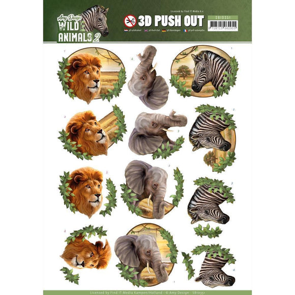 Find It Trading Amy Design Punchout Sheet Africa, Wild Animals 2