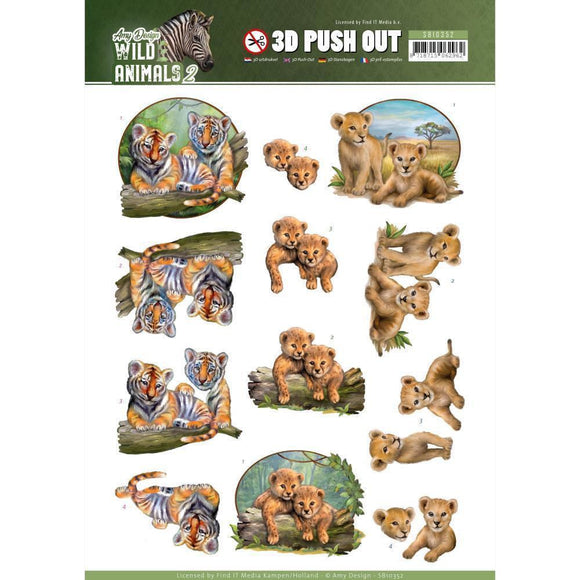 Find It Trading Amy Design Punchout Twins, Wild Animals 2