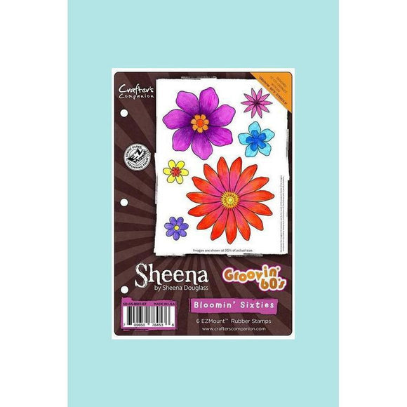 Crafters Companion - Sheena's Douglass Groovin' 60's Stamp Sets Blooming Sixties