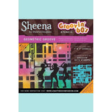 Crafters Companion - Sheena's Douglass Groovin' 60's Stencils - Geometric Groove Stencil
