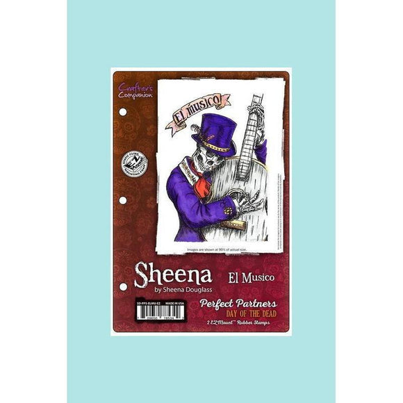Crafters Companion - Sheena Douglass Perfect Partners Day of the Dead Stamp- El Musico