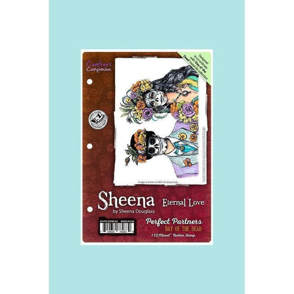 Crafters Companion - Sheena Douglass Perfect Partners Day of the Dead Stamp- Eternal Love