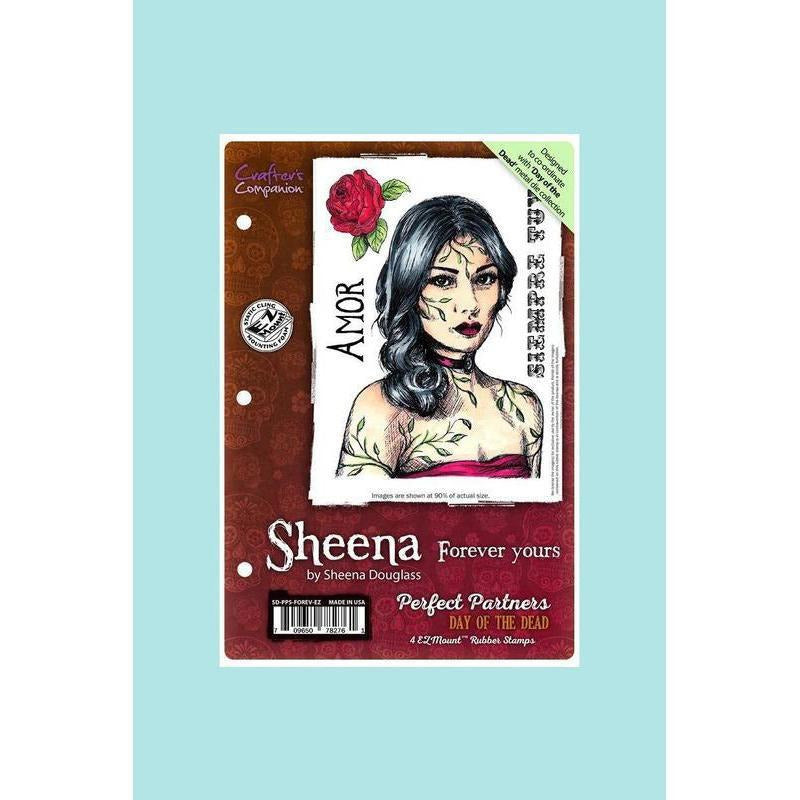 Crafters Companion - Sheena Douglass Perfect Partners Day of the Dead Stamp - Forever Yours