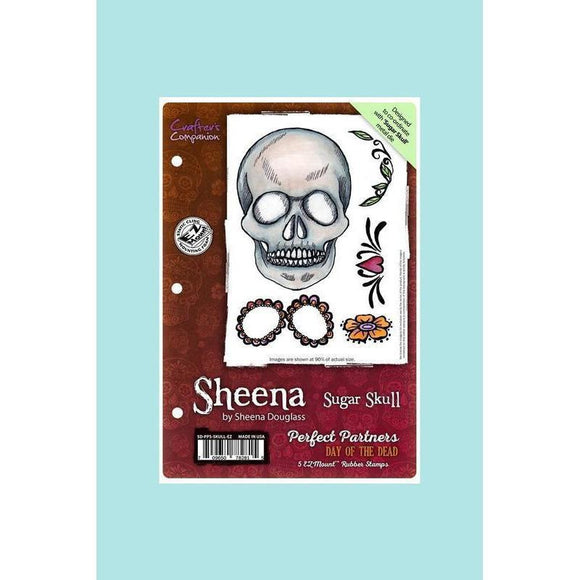 Crafters Companion - Sheena Douglass Perfect Partners Day of the Dead Stamp & Die -Sugar Skull