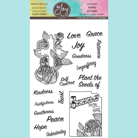 Joy Clair - Seeds of Faith - Bible Journaling Clear Stamp Set