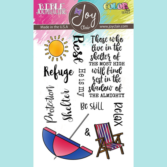 Joy Clair - Shadow of the Almighty | Bible Journaling Clear Stamps