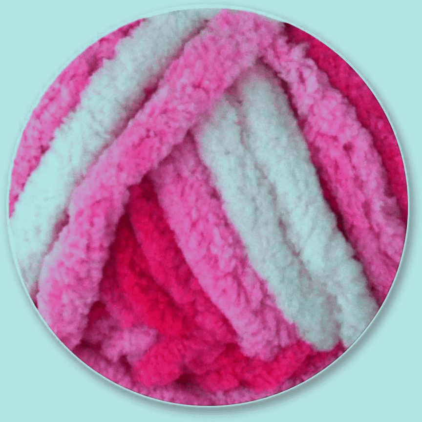 Poppy Crafts Sweet Puff Super Chunky Chenille Yarn - 16 Ply 100g - Magenta  Approx 40 metres, 100% Polyester.