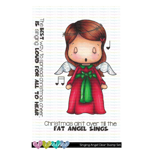 C.C. Designs - Singing Angel Swissie Clear Stamp Set