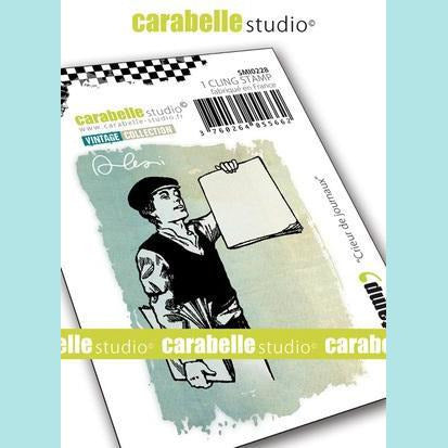 Carabelle Studio - Cling Stamp Small : Newsboy