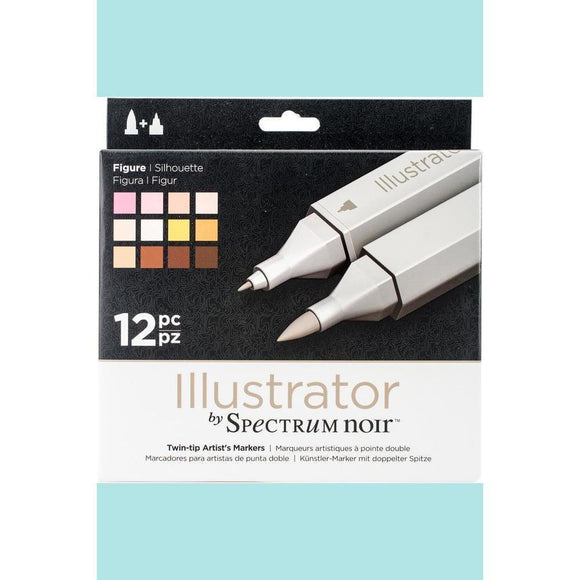 Spectrum Noir Dual Tip Alcohol Markers - Illustrator - Figure - 12 pack