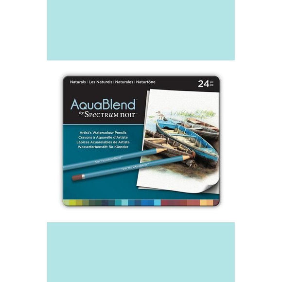 AquaBlend by Spectrum Noir 24pc Pencil Tin  Naturals