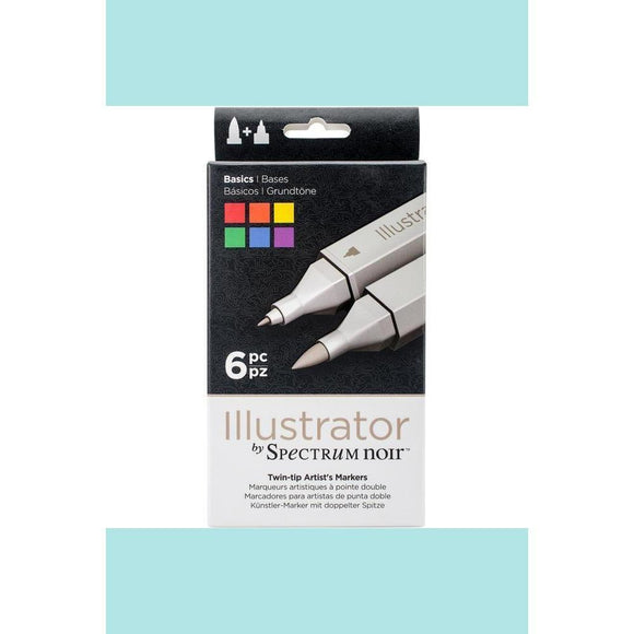 Spectrum Noir Dual Tip Alcohol Markers - Illustrator - 6 pack - Basics