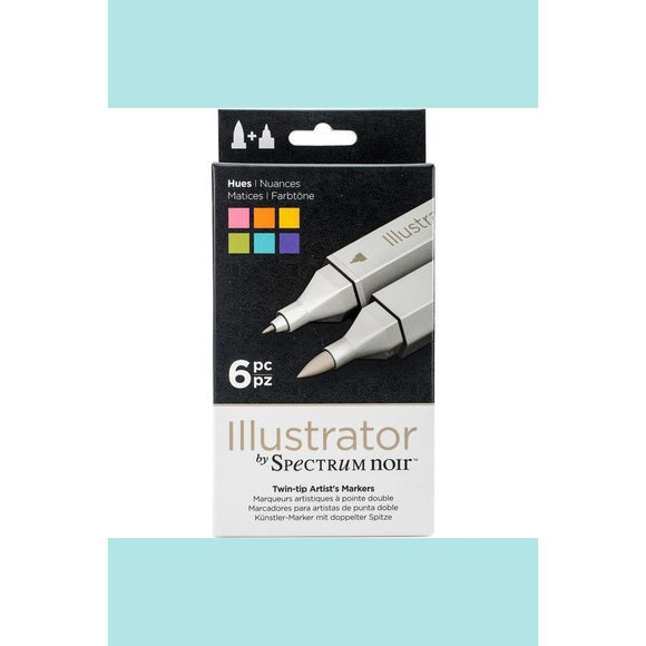 Spectrum Noir Dual Tip Alcohol Markers - Illustrator - 6 pack - Hues