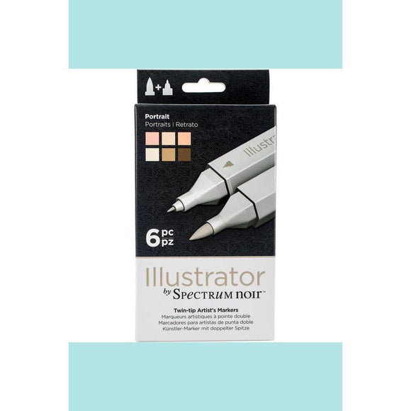 Spectrum Noir Dual Tip Alcohol Markers - Illustrator - 6 pack - Portrait