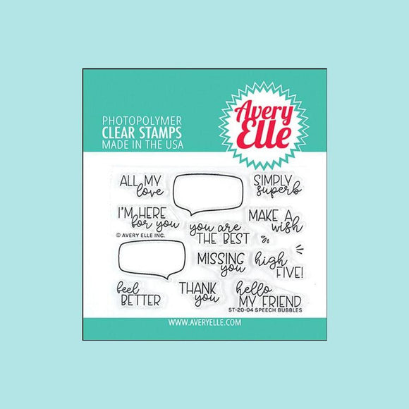 Avery Elle - Speech Bubbles Clear Stamps and Die